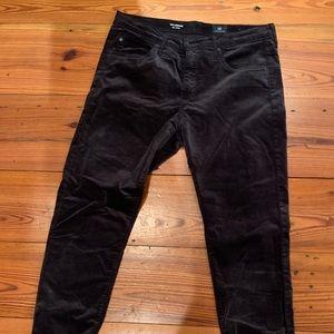 AG jeans (Anthropologie) dark charcoal velvet jean
